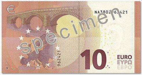 nová 10 eurová bankovka zozadu