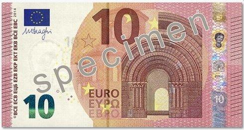 nová 10 eurová bankovka spredu