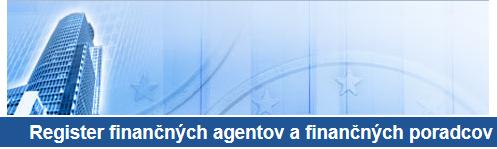 register finančných poradcov a agentov